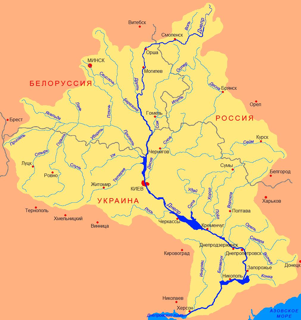 схема перекатов верхней москвы реки