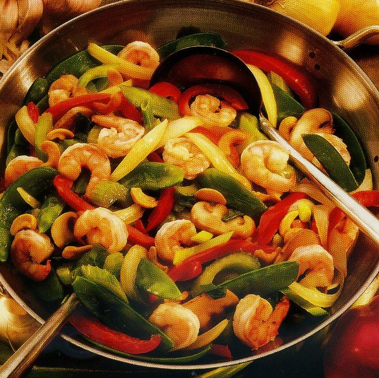 салат по-китайски с креветками