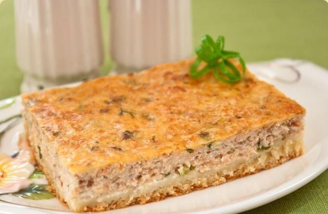 Пирог с консервой рыбной и картошкой из дрожжевого теста рецепт с